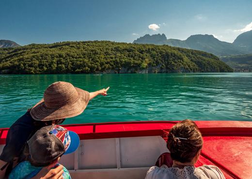 Croisière commentée sur le lac d'Annecy