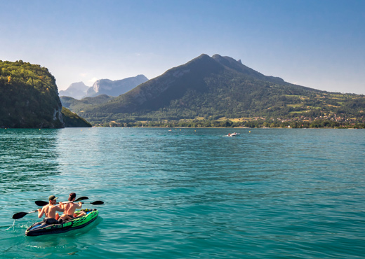 Canoë kayak sur le lac d'Annecy
