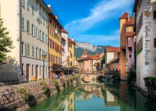 Le Thiou en vieille ville d'Annecy