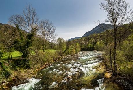 La rivière du Chéran en Pays d'Alby